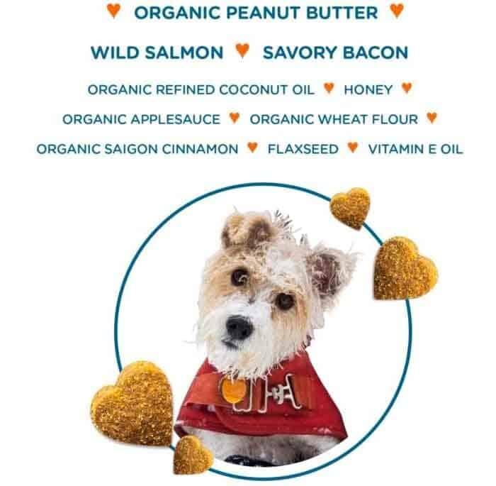 Organic peanut butter wild salmon savory bacon
